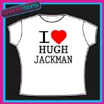 I LOVE HEART HUGH JACKMAN TSHIRT